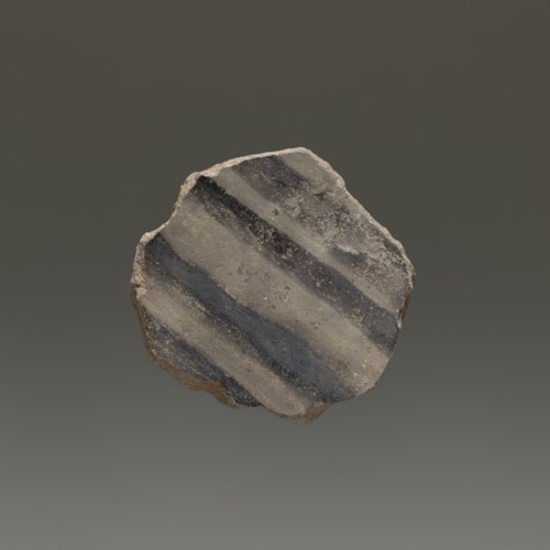 Wiyo Black-On-Gray Pottery Sherd - Page