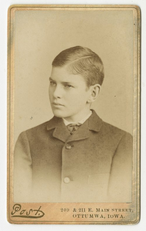 Dr. Clarence H. Kinnaman as a young boy - Page