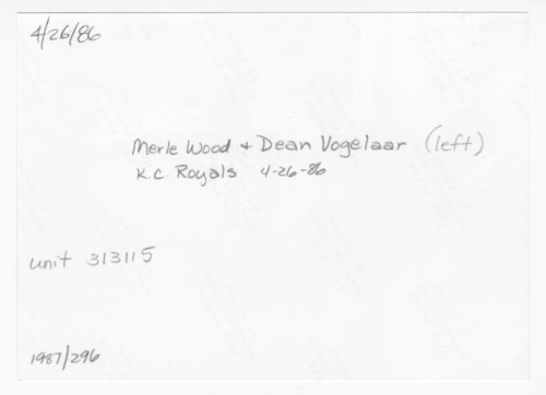 Dean Vogelaar and Merle Wood visiting Governor John Carlin - Page