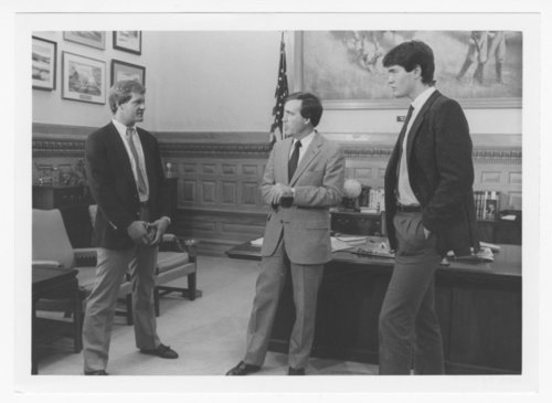 George Brett, Mark Gubicza and Dean Vogelaar visiting Governor John Carlin - Page