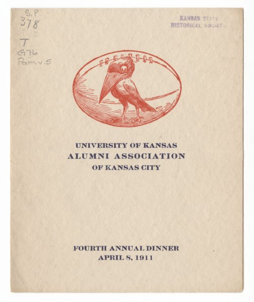 University of Kansas Alumni Association Fourth Annual Dinner - Page