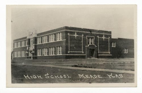 High school in Meade, Kansas - Page