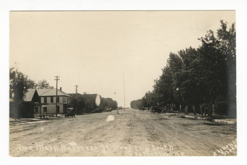 Main business street in Protection, Kansas - Page