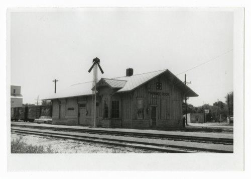 Atchison, Topeka & Santa Fe Railway Company depot, Pawnee Rock, Kansas - Page