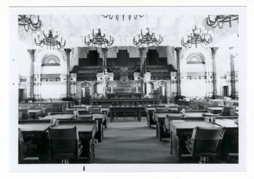 Senate chamber in the Kansas Capitol, Topeka, Kansas - Page