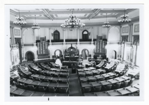 House of Representatives chamber in the Kansas Capitol, Topeka, Kansas - Page
