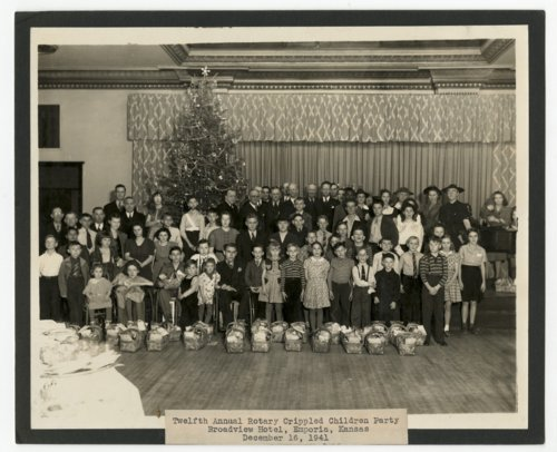 Twelfth annual Rotary Crippled Children party, Emporia, Kansas - Page