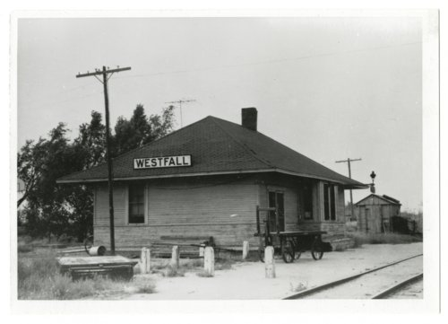 Atchison, Topeka & Santa Fe Railway Company depot, Westfall, Kansas - Page
