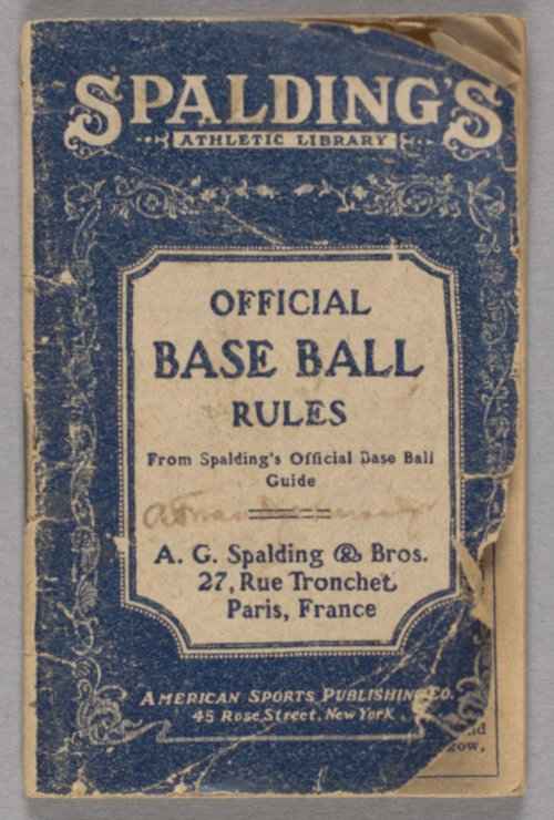 Official Base Ball Rules - Page