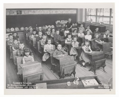 First grade students at Sumner Grade School in Topeka, Kansas - Page