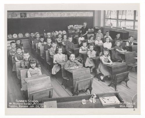 First grade students at Sumner Grade School in Topeka, Kansas - Page