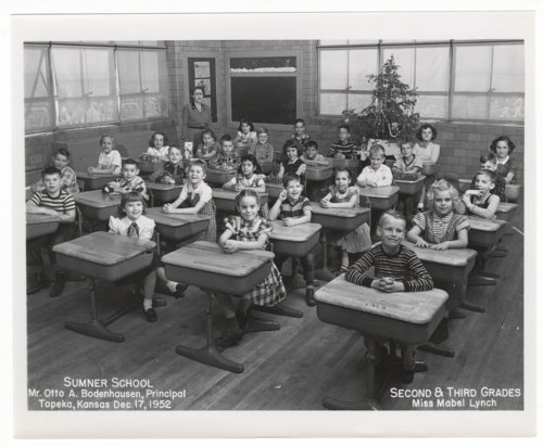 Second and third grade students at Sumner Grade School in Topeka, Kansas - Page