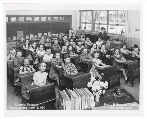 First and second grade students at Sumner Grade School in Topeka, Kansas - Page
