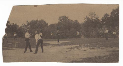 Baseball game probably in Russell, Kansas - Page