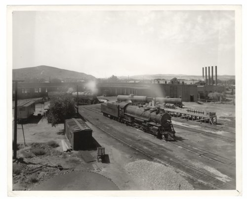 Atchison, Topeka and Santa Fe Railway Company's roundhouse, Barstow, California. - Page