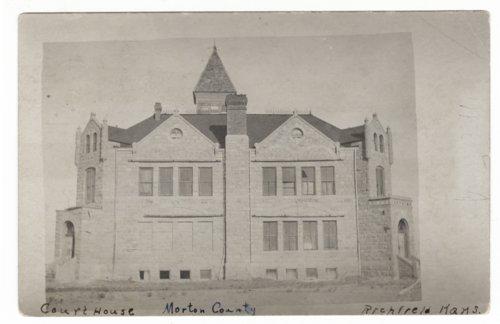Old Morton County, Kansas courthouse, Richfield, Kansas - Page