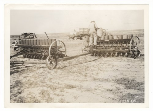 Plowing and planting a field, Morton County, Kansas - Page