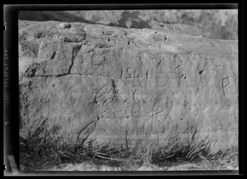Rock inscription near Elkhart, Morton County, Kansas - Page