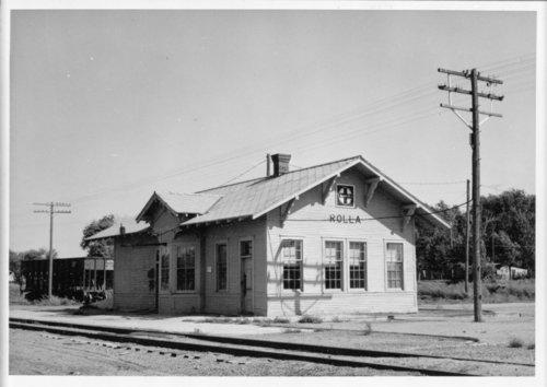 Atchison, Topeka & Santa Fe Railway Company depot, Rolla,, Kansas - Page