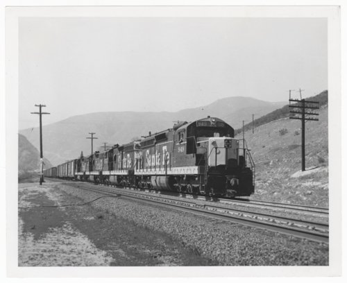 Atchison, Topeka & Santa Fe Railway Company freight train, Cajon Pass - Page