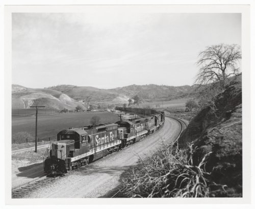 Atchison, Topeka & Santa Fe Railway Company freight train, Tehachapi Mountains, California - Page
