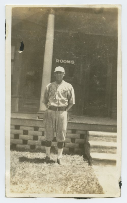 Bert Hart of the Beloit, Kansas baseball team - Page
