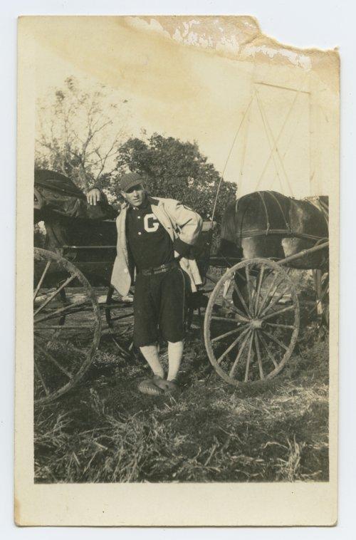 Bert Hart of the Green, Kansas baseball team - Page