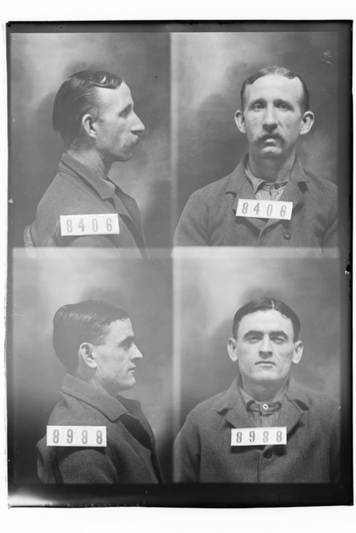 Bert Williams and Frank Adams, Prisoners 8406 and 8988, Kansas State Penitentiary - Page