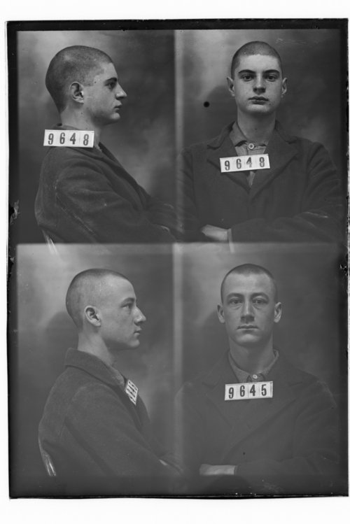 Ed Kernan and Ernest Estes, Prisoners 9648 and 9645, Kansas State Penitentiary - Page