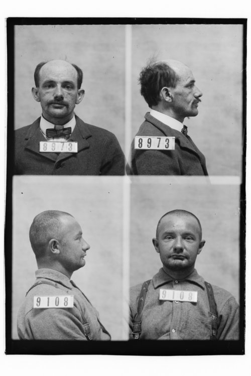 Henry Kirschner and Conrad Maass, Prisoners 8973 and 9108, Kansas State Penitentiary - Page