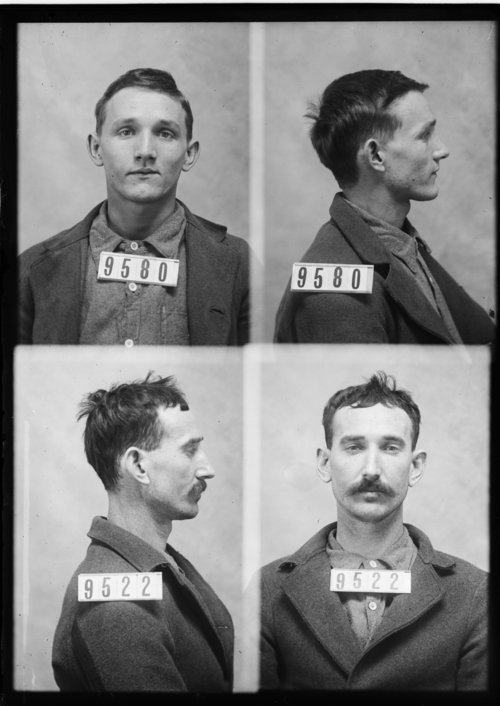 Frank Holmes and James Dunford, Prisoners 9580 and 9522, Kansas State Penitentiary - Page