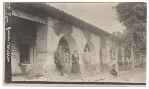Henry Ezra Dean with friends and family at the San Juan Mission in California - Page