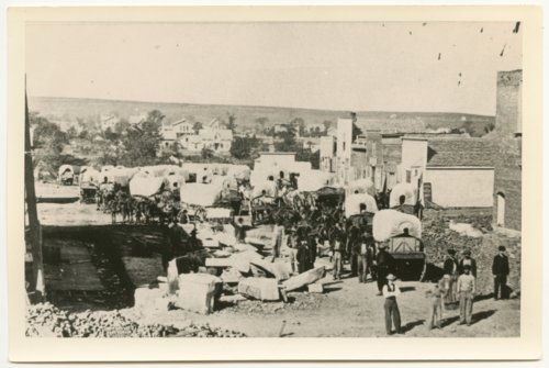 Covered wagons in Lawrence, Kansas - Page
