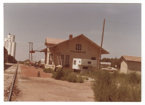 Atchison, Topeka & Santa Fe Railway Copmpany depot, Coldwater, Kansas - Page