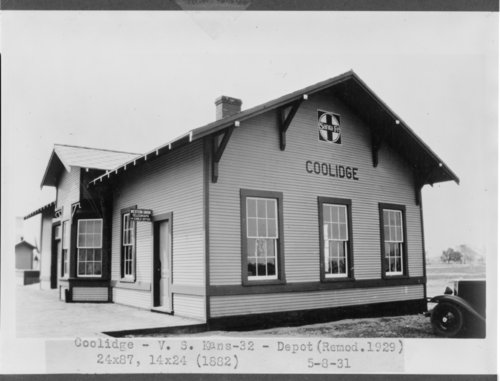 Atchison, Topeka and Santa Fe depot, Coolidge, Hamilton County, Kansas - Page