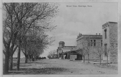 Street view of Coolidge, Hamilton County, Kansas - Page
