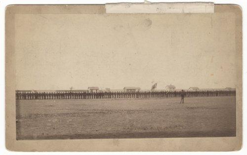 Dress parade, 2nd Regiment, Kansas National Guard near Hugoton, Stevens County, Kansas - Page