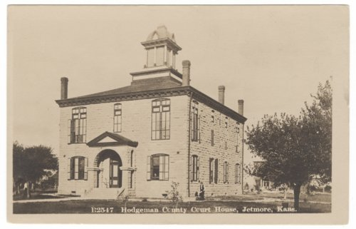 Postcard of Hodgeman County courthouse, Jetmore, Kansas - Page