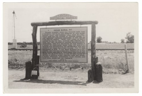 Historical marker, Indian burial pit, Saline County - Page