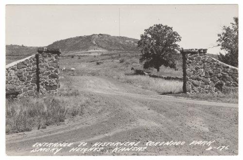 Entrance to historical Coronado Park, Smoky Heights, Kansas - Page