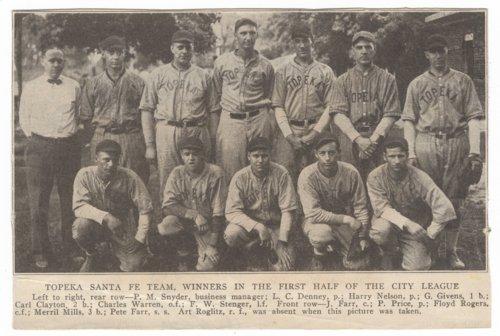 Santa Fe baseball team in Topeka, Kansas - Page