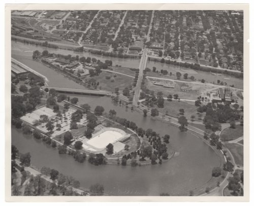 View of the Arkansas River and Riverside Park in Wichita, Kansas - Page