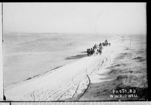 Road through the sand hills, Hamilton County, Kansas - Page