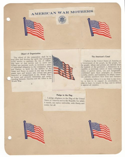 American War Mothers Scrapbook - Page