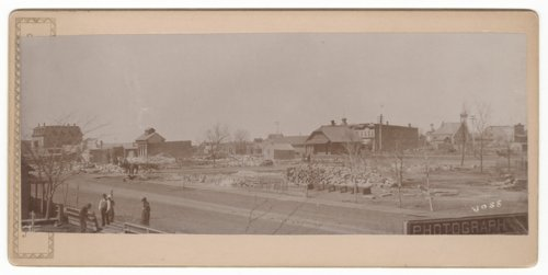 Buildings destroyed by fire, Hays, Kansas - Page