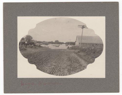 Flood scene in Hays, Kansas - Page