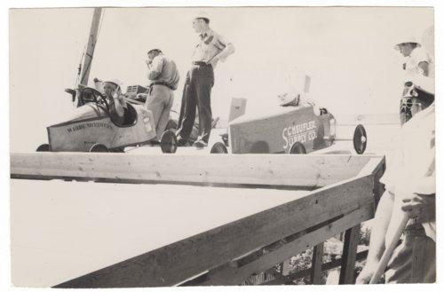 Scheufler Supply Company's coaster derby race car in Dodge City, Kansas - Page