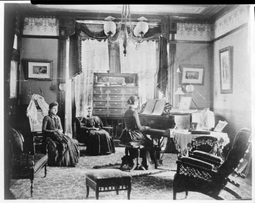"Interior view of John D. Knox's ""Belvoir"" home in Topeka, Kansas - Page"