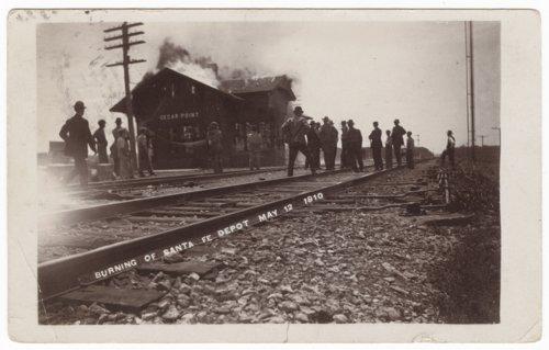 Atchison, Topeka & Santa Fe Railway Company depot, Cedar Point, Kansas - Page