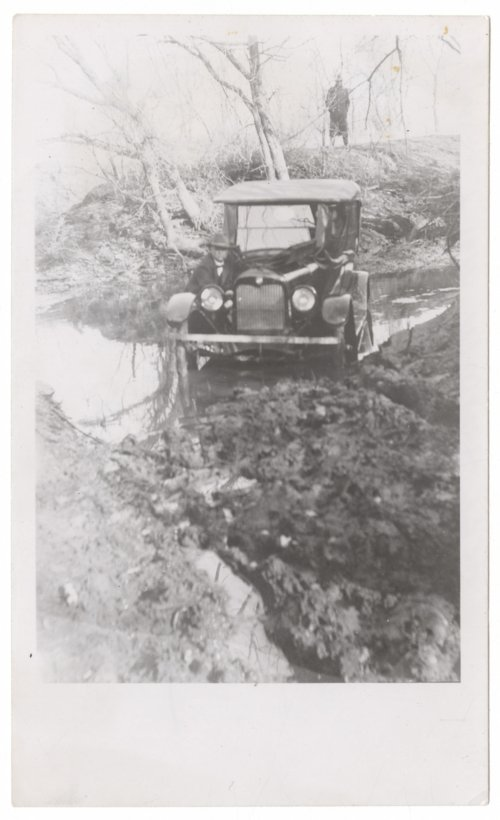 Automobile stuck in the mud - Page